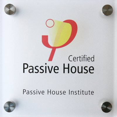 Certified Passive House plaque